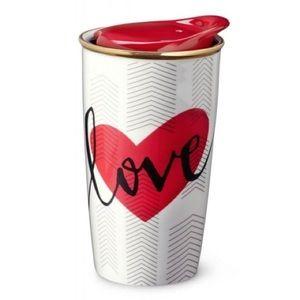 Starbucks 2014 Double Wall Traveler Mug VDay 12oz